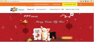 Thiết lập website FPTTelecom.net